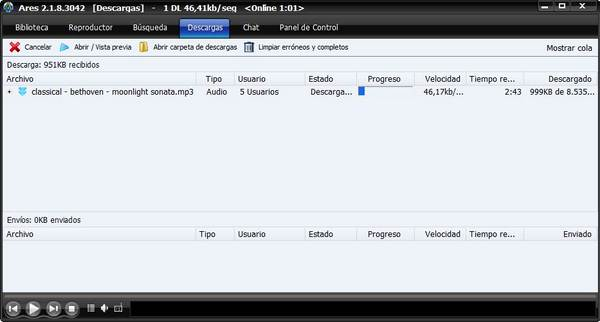 Ares 2.1.8, descarga gratis esta alternativa a Megaupload