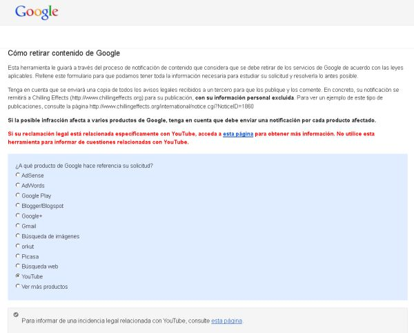 google retirar youtube