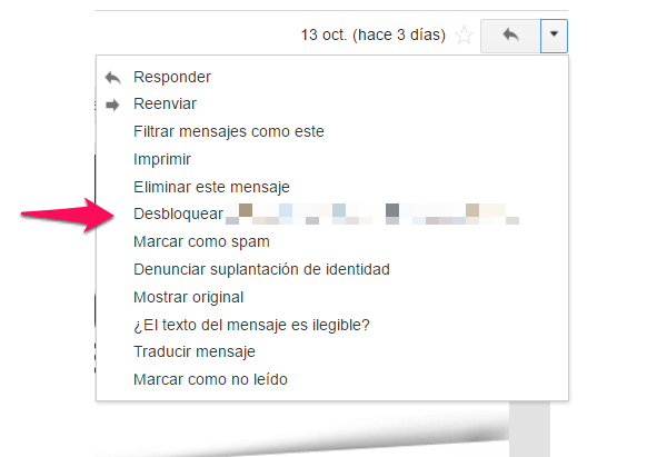 gmail post desbloqueo