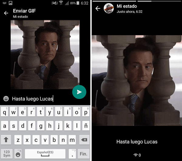 estados whatsapp gif y vídeo