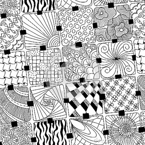 zentangle colorear mandalas