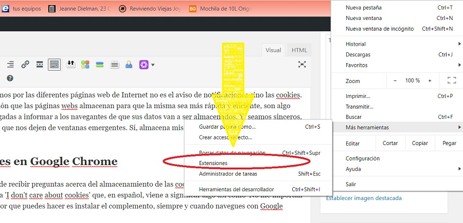 extensiones google chrome