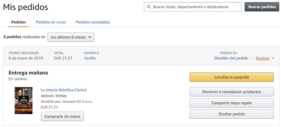 pedidos amazon