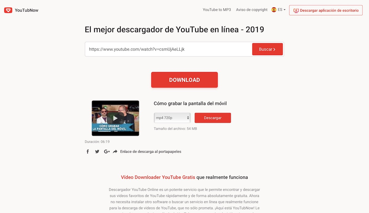 5 Páginas Para Descargar Videos De Youtube Gratis Sin Instalar Programas