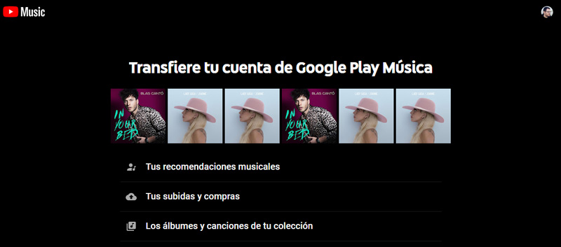 como transferir sua música do Google Play Music para a transferência do YouTube Music